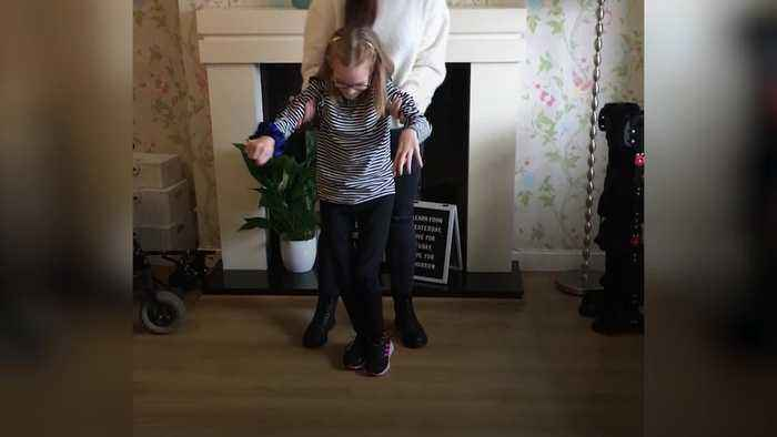 Disabled 10-year-old takes her first steps after community raise £1,600 in 72 hours
