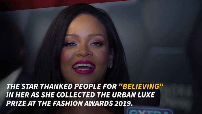 Rihanna collects Fashion Award on behalf of Fenty
