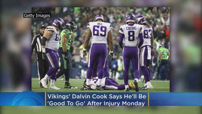 Vikings' Dalvin Cook Says He'll Be 'Good To Go' After Injury On Monday Night Football