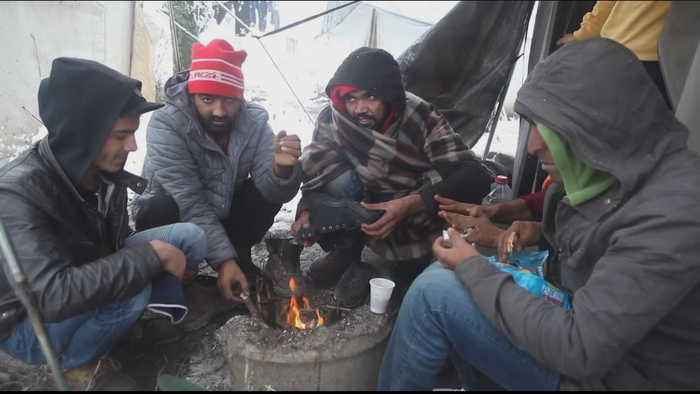 Refugees brace for harsh winter on Bosnia-Croatia border