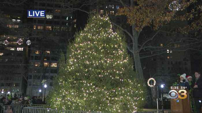Christmas Tree Lighting Ceremony At Rittenhouse Square