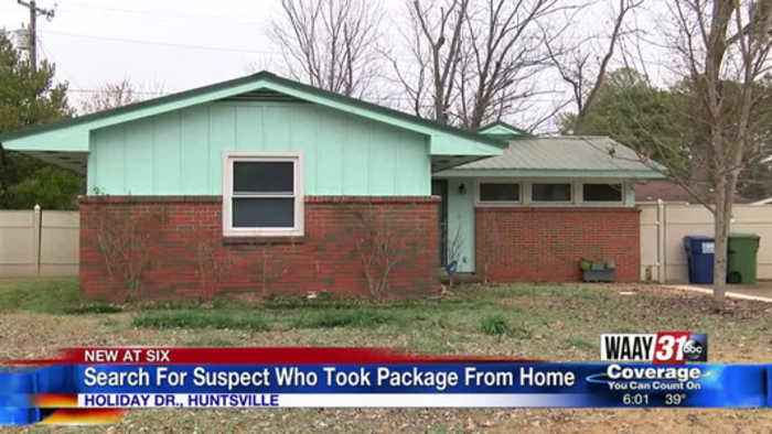 Search For Suspect Who Took Package From Home