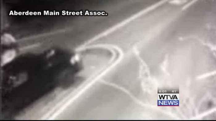 Driver destroys clock in downtown Aberdeen