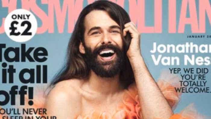 'Queer Eye's' Jonathan Van Ness Nabs solo cover for 'Cosmopolitan UK'