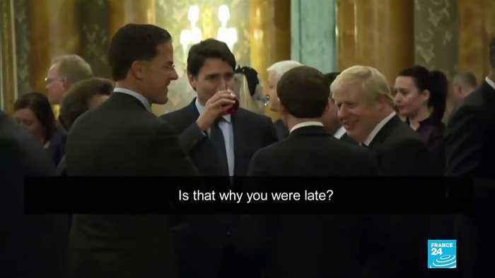 Macron, Johnson and Trudeau caught 'mocking' Trump at NATO summit