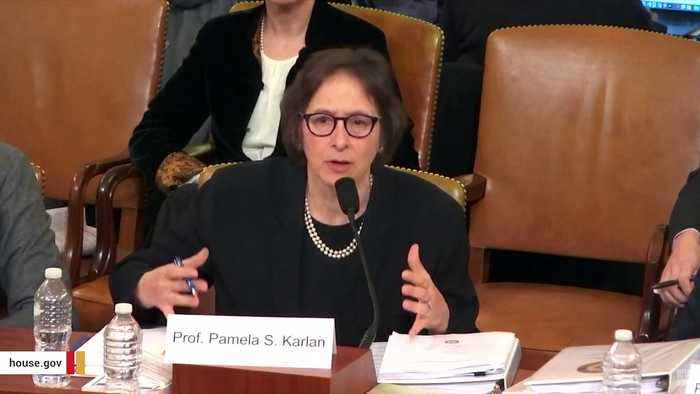 Watch: Impeachment Witness Pamela Karlan Brings Up Trump's Son Barron During Hearing