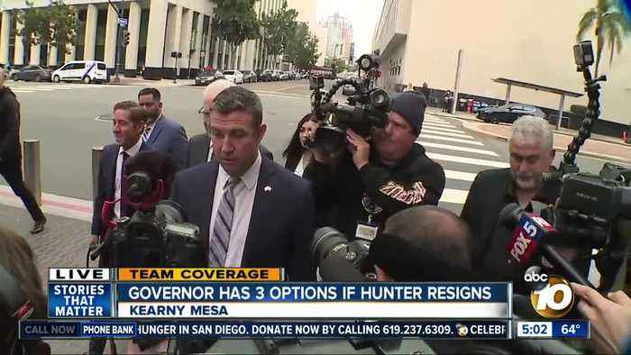 Governor has 3 options with Rep. Hunter guilty plea