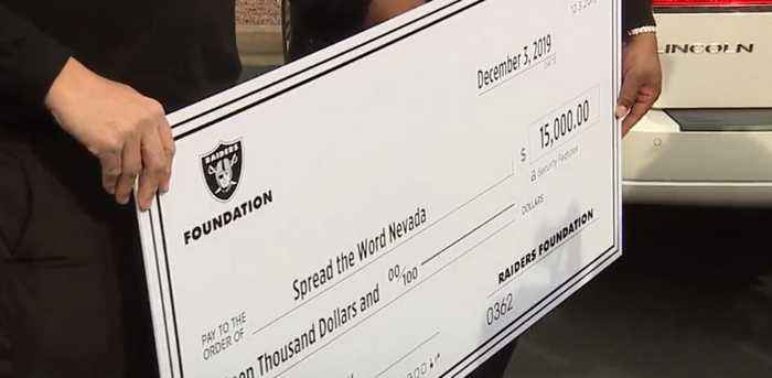 Raiders make surprise donations at local nonprofits on Giving Tuesday