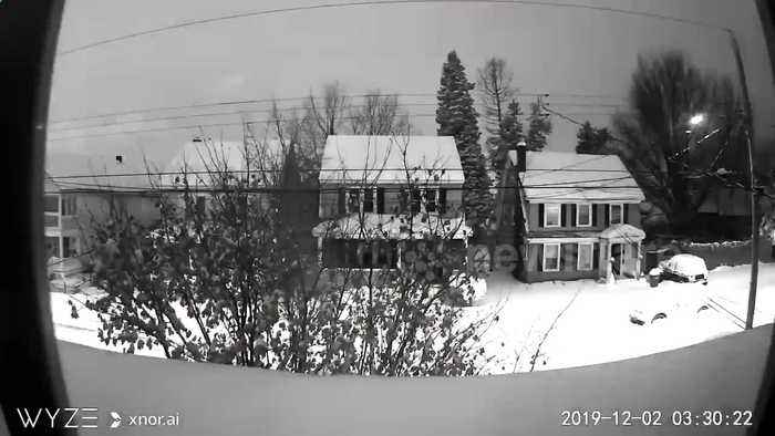 Three-day timelapse footage shows 23-inches of snow blanket Albany, New York