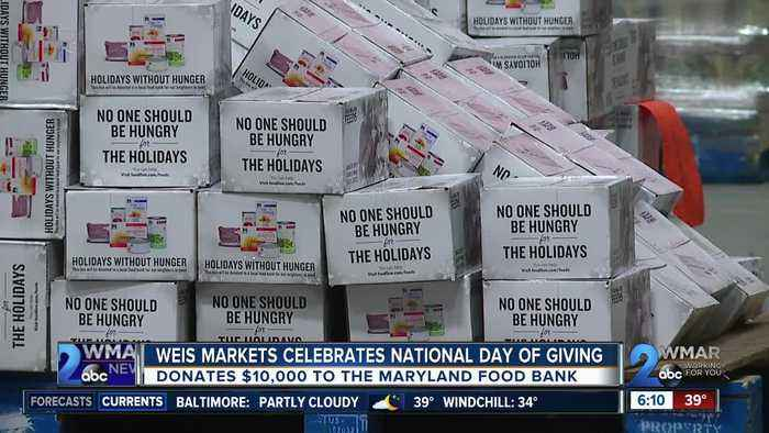Weis Markets teams up with the Maryland Food Bank for Giving Tuesday