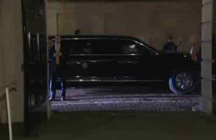 Donald and Melania Trump meet Duke and Duchess of Cornwall