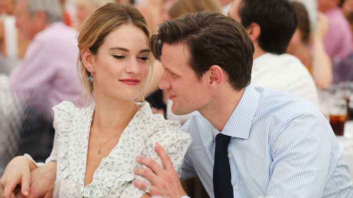 Lily James & Matt Smith step out for lunch amid split reports