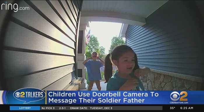 Kids Use Doorbell Camera To Message Soldier Father