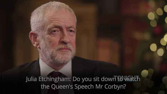 Jeremy Corbyn says he 'doesn't watch television very much on Christmas Day' when quizzed on Queen's Speech