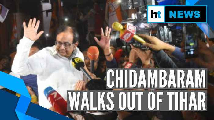 'Unwarranted 106 days' says Karti as P Chidambaram walks out of Tihar jail