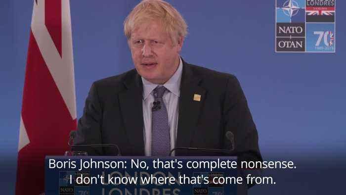 Boris Johnson responds to video of Nato leaders 'mocking Donald Trump'