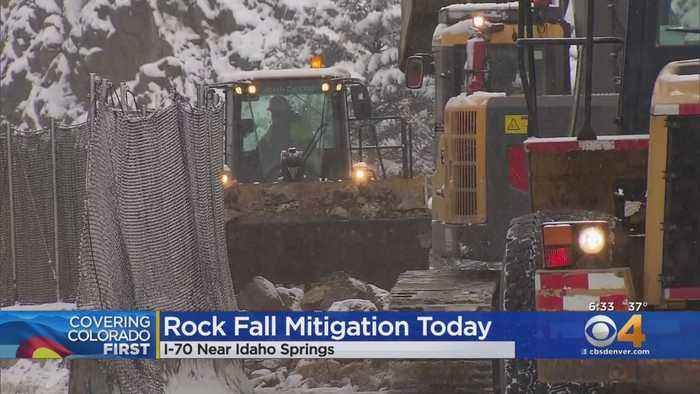 CDOT Crews Stop I-70 Traffic At Idaho Springs For Rock Fall Mitigation