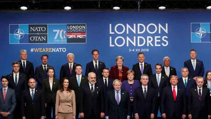 NATO cracks on display in London summit