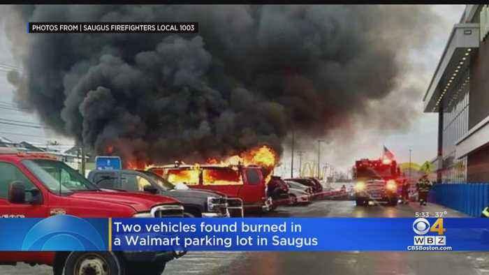 2 Vehicles Burned In Walmart Parking Lot In Saugus