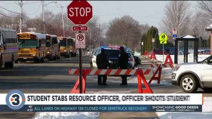 Police: Teen stabbed officer at Oshkosh high school