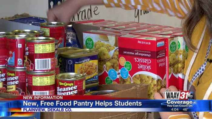 Plainview School in DeKalb County opens free pantry to help students