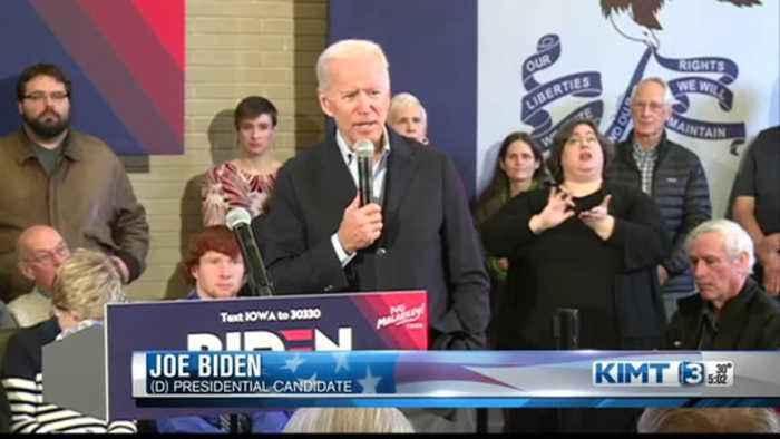 Biden Campaigns in Mason City