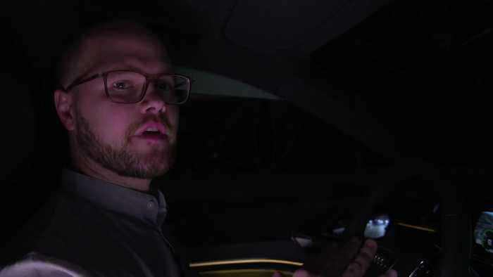 Audi e-tron Sportback night driving in Los Angeles with Johannes Reim