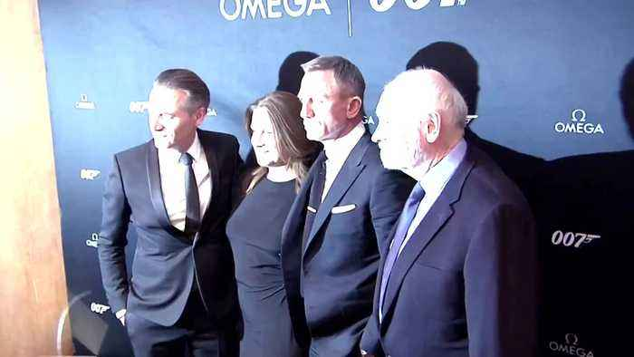 Daniel Craig helps unveil the new James Bond 007 watch