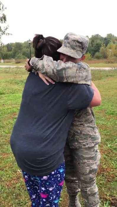 Mom Gets Emotional When Airman Daughter Gives Surprise Visit