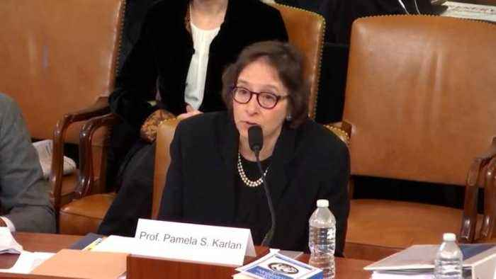 Watch: Impeachment Witness Pamela Karlan Apologizes For Referencing Barron