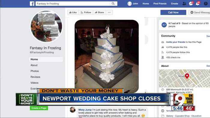 Newport wedding cake shop closes, leaving bride in the lurch