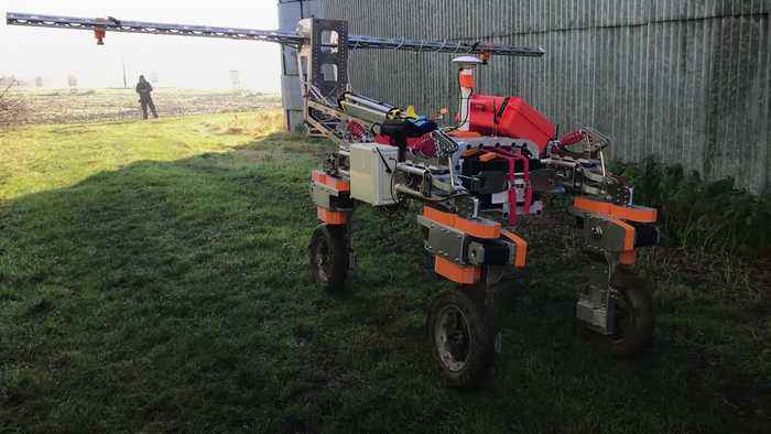 National Trust brings in robot to map weeds on farm