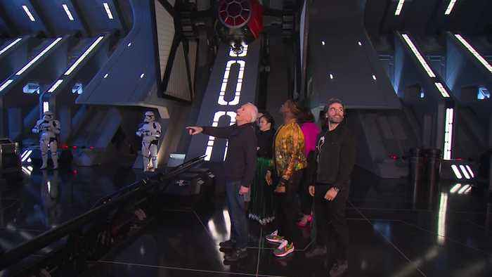 Cast of The Rise of Skywalker visit new Star Wars attraction