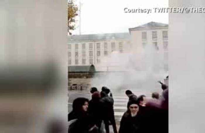 French police fire tear gas in western city of Nantes