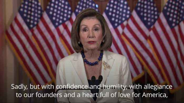 Nancy Pelosi announces the House will proceed with impeachment of Trump