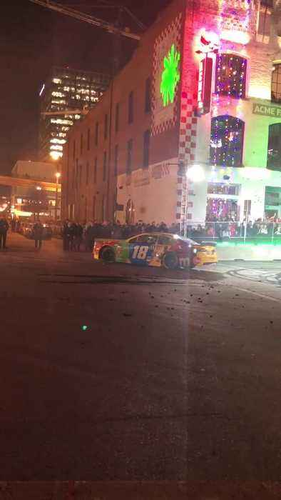 Kyle Busch at Burnouts On Broadway