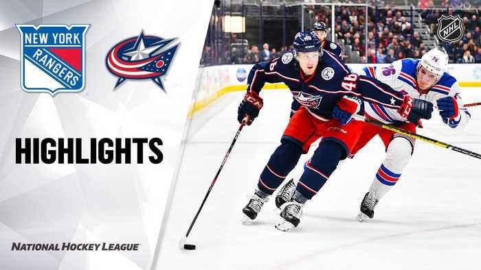 NHL Highlights | Rangers @ Blue Jackets 12/05/19