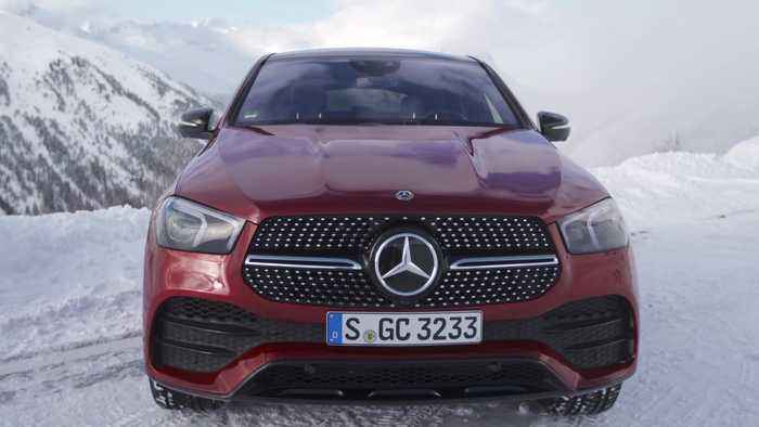 Mercedes-Benz GLE 400 d 4MATIC Coupé Design in Hyacinth red