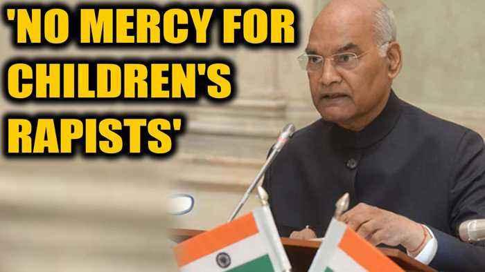President Ram Nath Kovind says 'no mercy for children's rapists' | Oneindia  News