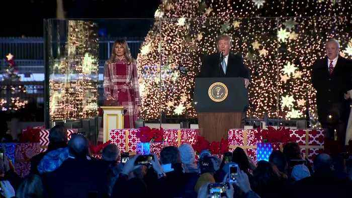 The Trumps light National Christmas Tree
