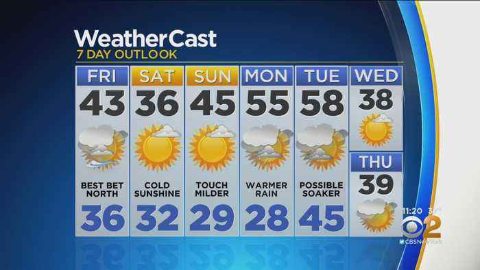 New York Weather: CBS2 12/5 Nightly Forecast at 11PM