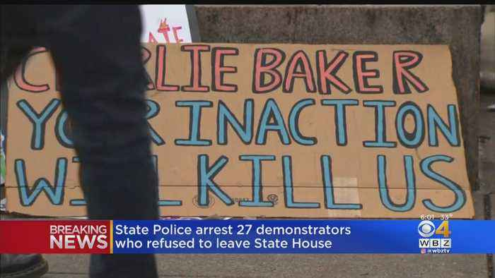 27 Climate Change Protesters Arrested At The State House