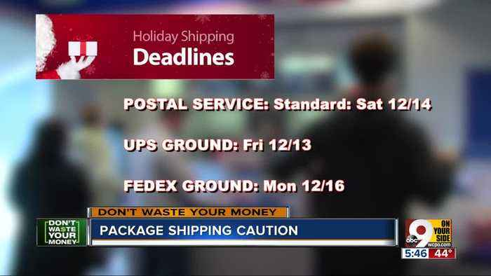 Be ready for these holiday shipping deadlines