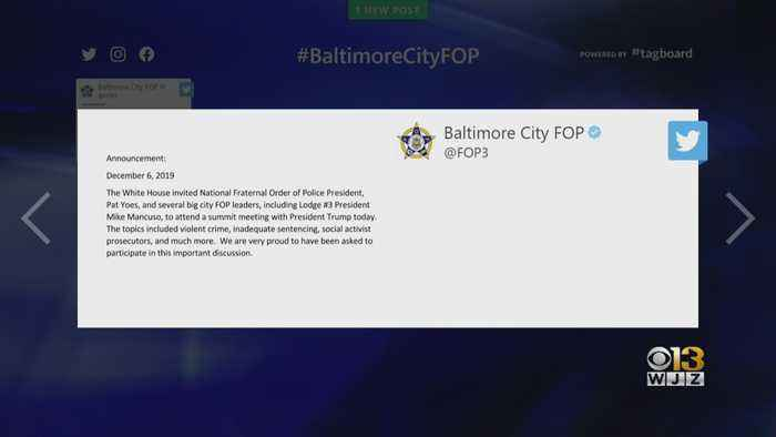 Baltimore Police Union President Attends Meeting With President Trump