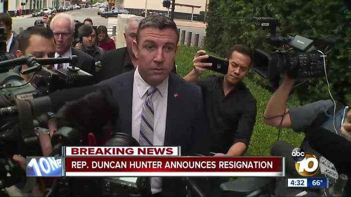 Congressman Duncan Hunter announces resignation