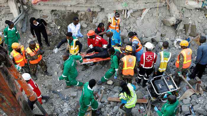 Nairobi building collapse: Several killed, more feared trapped