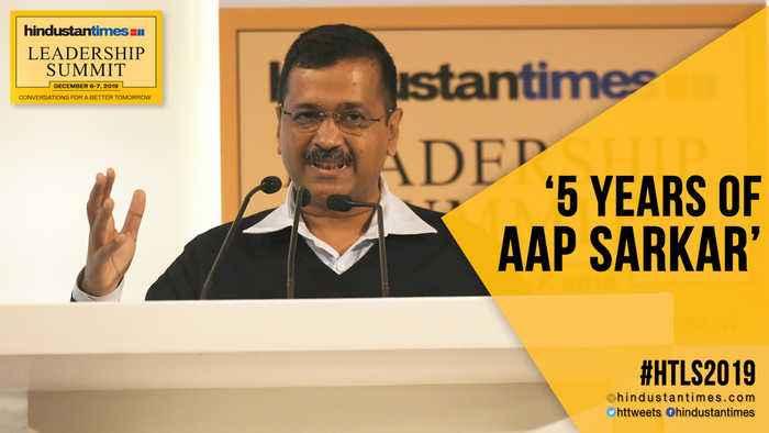 HTLS 2019: Arvind Kejriwal lists achievements ahead of Delhi polls