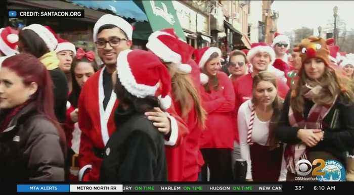 Annual SantaCon Pub Crawl Hits Hoboken