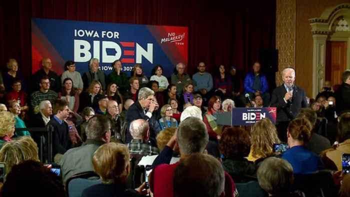Former VP Joe Biden, former Secretary of State John Kerry campaign in Iowa