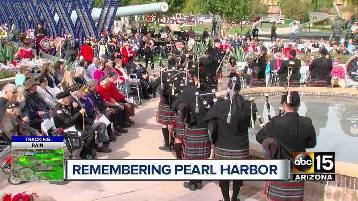 Ceremony honors fallen veterans, survivors of Pearl Harbor attack
